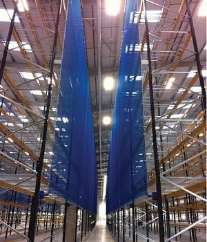 rede de proteção logística porta pallet